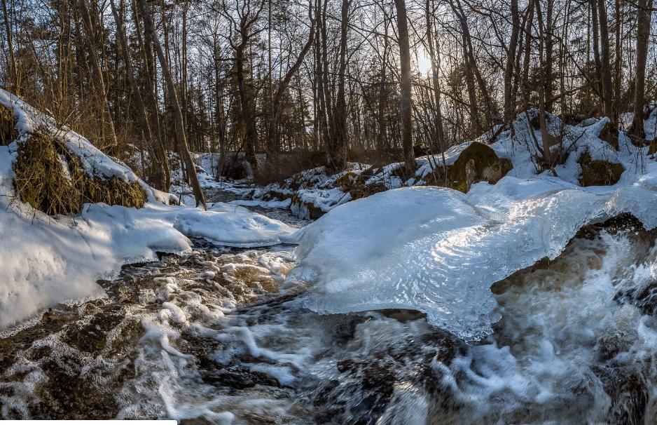 талая вода в природе